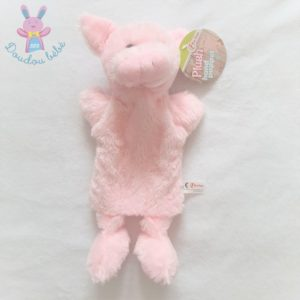 Doudou marionnette Cochon rose pâle TOI TOYS ACTION