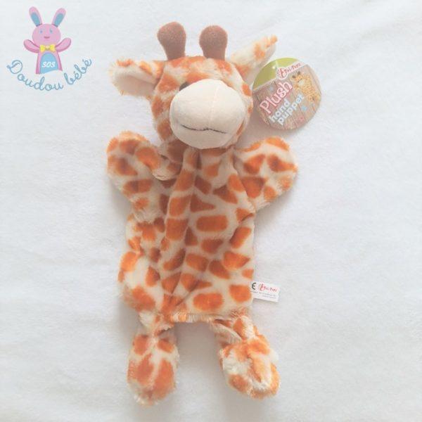 Doudou marionnette Girafe beige tâches marron TOI TOYS ACTION