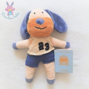 Doudou Chien bleu beige marron 23 BOUT'CHOU MONOPRIX