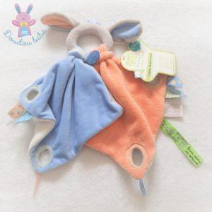 Doudou Poignée gris orange bleu Tatoo DOUDOU ET COMPAGNIE