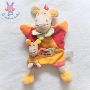 Cheval marionnette et bébé jaune rouge vert DOUDOU ET COMPAGNIE