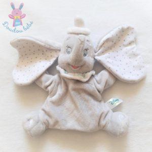 Doudou marionnette éléphant Dumbo gris blanc étoiles DISNEY