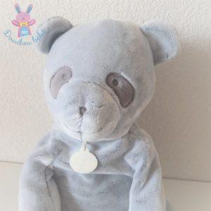 """Panda gris """"J'aime mon doudou"""" 50 cm DOUDOU ET COMPAGNIE"""