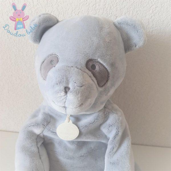 """Panda gris """"J'aime mon doudou"""" 35 cm DOUDOU ET COMPAGNIE"""
