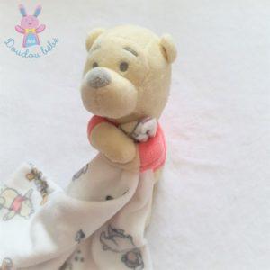 Doudou Winnie jaune rouge mouchoir blanc DISNEY by PRIMARK