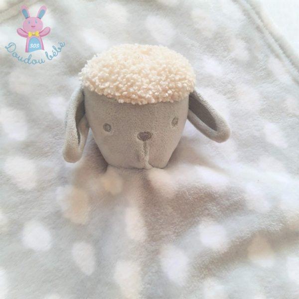 Doudou plat Mouton gris blanc nuages PRIMARK BABY