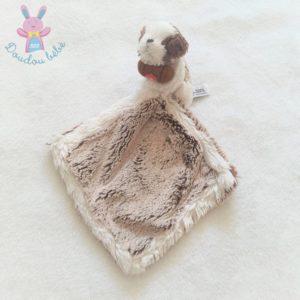 Doudou Chien Saint Bernard mouchoir marron blanc DANI CREATIONS
