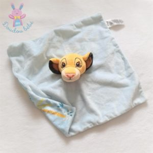 Doudou plat Simba roi Lion bleu jaune motifs DISNEY by PRIMARK