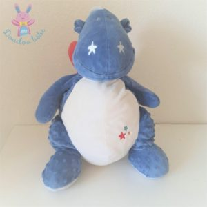 Doudou peluche Dragon Victor & Guss bleu blanc 45 cm NOUKIE'S